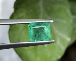HGTL Certified ~NR~0.78 Carats Natural Emerald From Panjsher Afghanistan