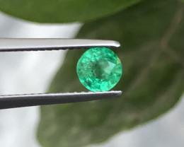 HGTL Certified 0.56 Carats Natural Emerald Nice Cut Gemstone From Panjsher