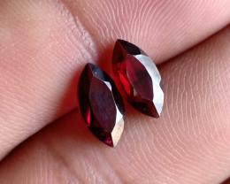 10x5 mm Garnet Pair Marquise cut 100% NATURAL AND UNTREATED VA1056