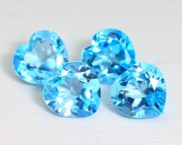 Swiss Topaz 9.61Ct VS Heart Cut Natural Swiss Blue Topaz Lot SA301