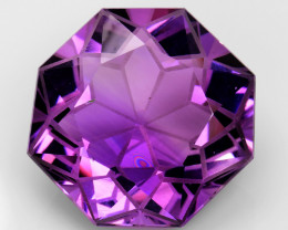 35.96Cts Sparkling  Amethyst Brilliant Color and Cut ~ AM8