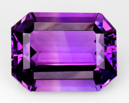 36.75Cts Sparkling  Amethyst Brilliant Color and Cut ~ AM9