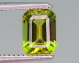 Yellowish Mint 1.50  ct Peridot Ring Size