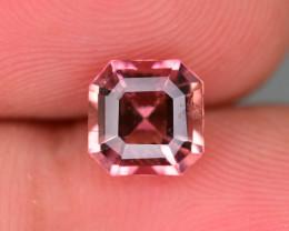 Bubble Gum 1.35 ct Asscher Cut Tourmaline Ring Size