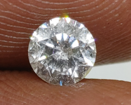 Certified Nat $978  Fiery 0.55cts SI2  White Loose Diamond Round