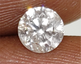 $2000 Fiery 0.62cts SI2 UNTREATED Natural White Dia