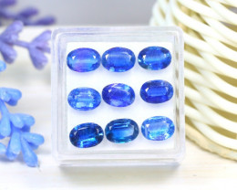 Kyanite 8.90 Ct 9Pcs Oval Cut Natural Himalayan Blue Kyanite SB29