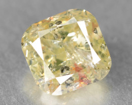0.51 Cts Untreated Fancy Yellow Color Natural Loose Diamond
