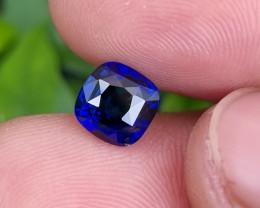 NO HEAT 2.07 CTS CERTIFIED STUNNING VIVID BLUE SAPPHIRE FROM SRI LANKA