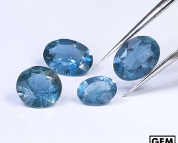 2.1 ctw. Santa Maria Color Aquamarine Lot 4 Pcs (Africa)