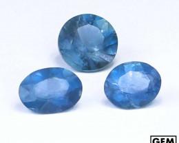 2.3 ctw. Santa Maria Color Aquamarine 3 Pcs LOT (Africa)