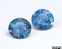0.85 ctw. Santa Maria Color Aquamarine Pair 2 Pcs LOT (Africa)