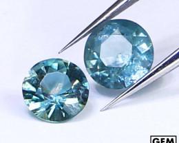 0.70 ctw. Santa Maria Color Aquamarine 2 Pcs LOT (Africa)
