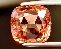 3.90ct   Padparadscha  Color Tourmaline -VVS /Congo / Untreated/Certified