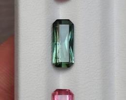 ~NO RESERVE~4.80 Carats Natural Toumaline Baby Pink And Green Nice Cut Gems