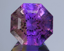 GFCO-13.97 Carat Natural Ametrine Bolivian Precision Master Cut Gemstone
