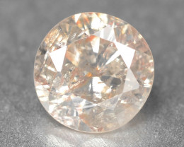 Greyish Pink Diamond 0.16 Cts Untreated Fancy Color Natural