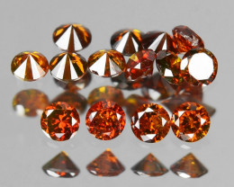 Red Diamond 0.20 Cts Sparkling Fancy Orange Red Color Natural