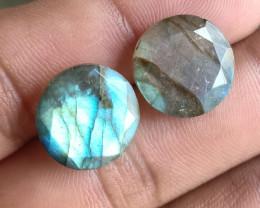 14x14mm Labradorite 100% Natural + Untreated Faceted Gemstone VA1449