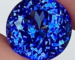 5.50 CT *Premium Gem* Rare Red Flash Unheated Natural Blue Tanzanite