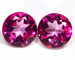 Pink Topaz 2.93Ct VS Round Cut Natural Vivid Pink Topaz SB425