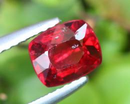 1.015 Cts Vivid Red Spinel Natural Burmese Mogok 100% Natural Unheated