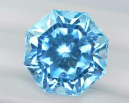 26.89 Ct Pariaba Blue Apatite Precision Cut Gemstone