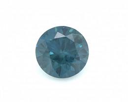 Blue Diamond 0.52 CT Diamond Gemstones top color