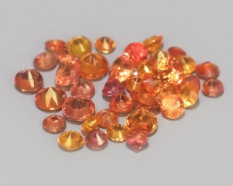 0.55 CTS~Excellent Natural Intense Beautiful Orange red Sapphire Round!!