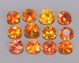 1.40 CTS~Excellent Natural Intense Beautiful Orange red Sapphire Round!!