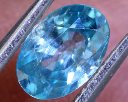 1.10 CTS  BLUE ZIRCON FACETED STONE  PG-1213 Preciousgems