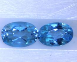 1.05 CTS   BLUE TOPAZ NATURAL  (PAIR)  PG-1220 Preciousgems