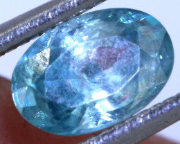 1.30 CTS BLUE ZIRCON FACETED STONE   PG-1225 Preciousgems