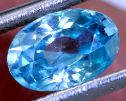 1.30 CTS BLUE ZIRCON FACETED STONE   PG-1246 Preciousgems