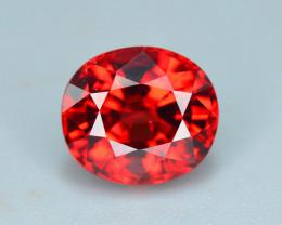 High Clean  2.75 ct Attractive Piece Red Garnet Ring size~B