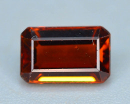 Emerald Cut 0.85 ct lovely Red Garnet Ring Size