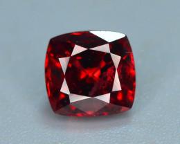 Top Grade 1.35 ct lovely Red Garnet Ring Size