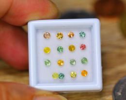 2.01ct Natural Fancy Color Sapphire Round Cut Lot GW9549
