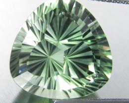 14.63Cts Stunning Natural Green Amethyst (prasiolite) Trillion Fashion Cut