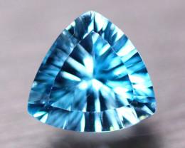4.54ct Natural Swiss Blue Topaz Trllion Laser Cut Lot V8493