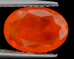 Mexican Fire Opal  1.22 Cts Faceted Gemstone