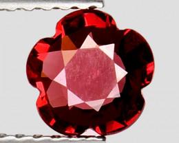 0.82Ct Fantastic Flower Cut Grape Garnet Gemstone Gf04