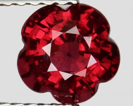 1.42 Ct Fantastic Flower Cut Grape Garnet Gemstone Gf09