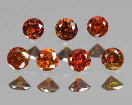 Diamond 0.12 Cts Sparkling Fancy Orange Red Color Natural