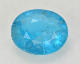 Neon Blue Apatite 2.72 Cts Unheated Natural Gemstone