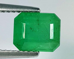 2.04 ct  Fantastic Gem  Lovely Octagon Cut Natural Emerald