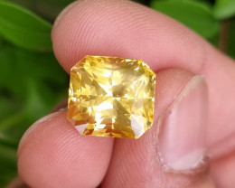 NO HEAT 12.99 CTS STUNNING TOP QUALITY FULLY FIRES VIVID YELLOW SAPPHIRE