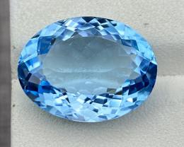 Natural Sky Blue Topaz 14.65 Cts Good Luster