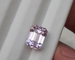 HGTL Certified~NO RESERVE~5.16 Carats Natural Kunzite Nice Cut Gemstone
