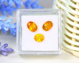 Sapphire 2.97Ct 3Pcs Oval Cut Natural Thailand Yellow Color Sapphire SB956